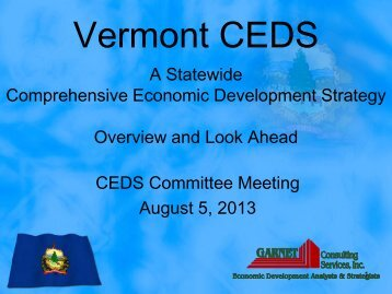 CEDS Presentation - Agency of Commerce & Community ...