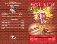 hunter lanes menu - Hunter MWR