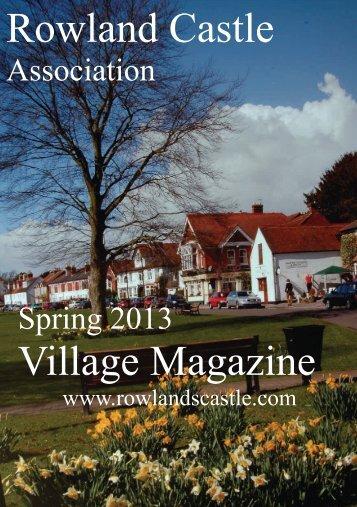 Rowlands Castle Association Village Magazine Spring 2013