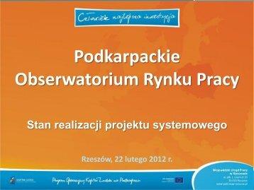 Możliwości wsparcia przedsiębiorczości w ramach ... - wup rzeszow.pl