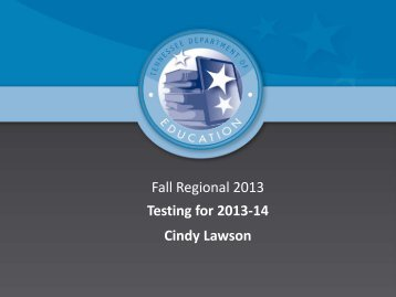 2013 Fall Regional Power Point - Johnson City Schools