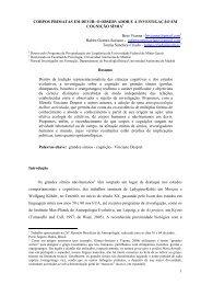 CORPOS PRIMATAS EM DEVIR: O OBSERVADOR ... - Biolinguagem
