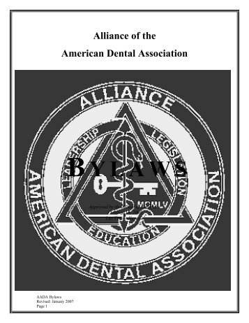 BYLAWS - Alliance of the American Dental Association