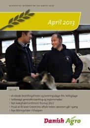 Læs nyhedsbrevet for april måned Ændrede ... - Danish Agro