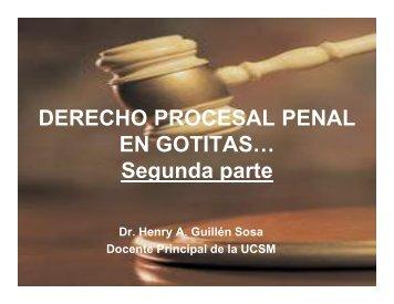 Derecho Procesal Penal en Gotitas