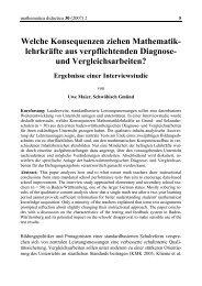 und Vergleichsarbeiten? - mathematica didactica - Pädagogische ...