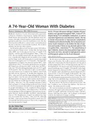 A 74-Year-Old Woman With Diabetes - Malattie metaboliche.it