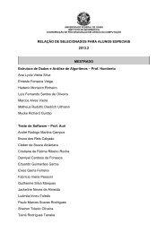 Confira o resultado da Seleção para Aluno Especial 2013.2 (.pdf)