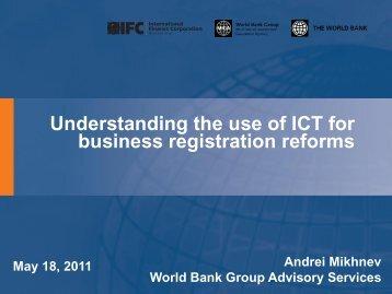 MENA ICT Workshop Presentation Session 5 Use of ICT in BR