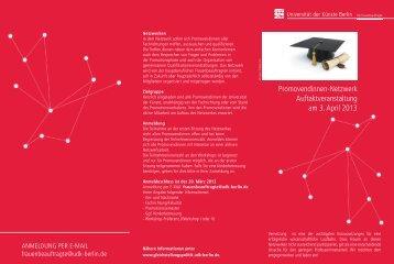 Informationen Promovendinnennetzwerk - Universität der Künste ...