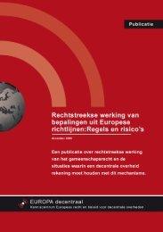 Factsheet rechtstreekse werking richtlijnen - Europa decentraal