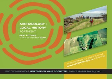 Archaeology Local History Fortnight - Web Version - Visit East Lothian