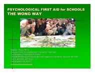 Psychological First Aid for Schools - DoDEA