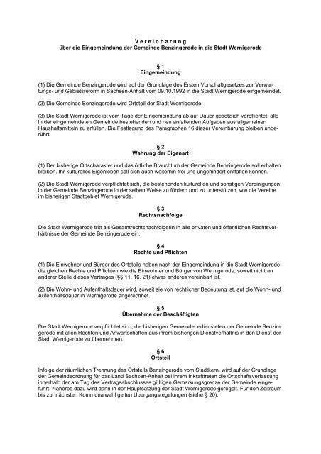 Eingemeindungsverträge (42.17 kB) - Wernigerode