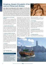 Hongkong, Yangtse-Kreuzfahrt, Xi'an und von Peking nach Moskau