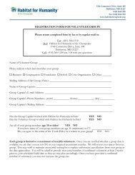 REGISTRATION FORM FOR VOLUNTEER GROUPS Name of ...