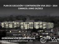Plan de ejecución y contratación VIVA 2013-2014 - Gobernación de ...
