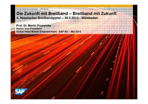 Abschlusskeynote: Die Zukunft mit Breitband – Breitband mit Zukunft