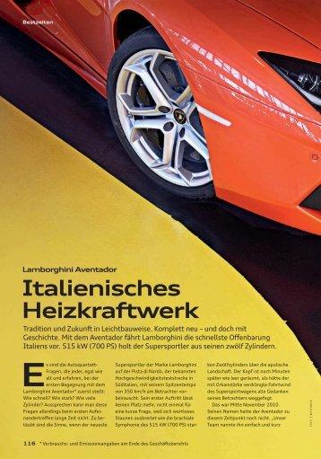 Italienisches Heizkraftwerk - Audi Geschäftsbericht 2012