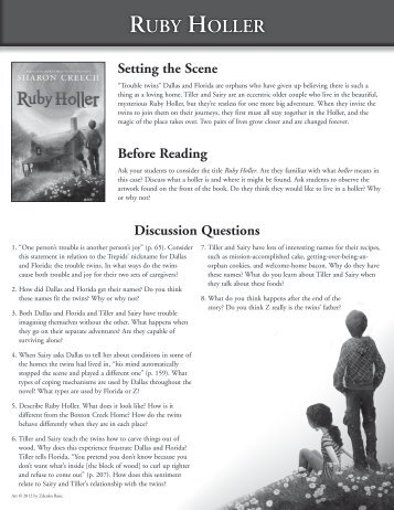 ruby holler book summary
