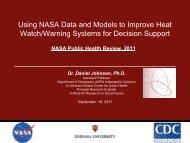 Using NASA Data and Models to Improve Heat Watch Warning ...