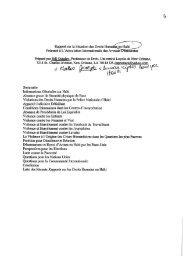 Rapport sur la Situation des Droits Humains en - International ...