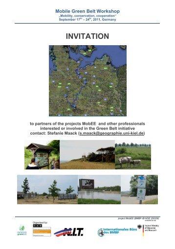 Mobile Green Belt Workshop - Baltic Green Belt