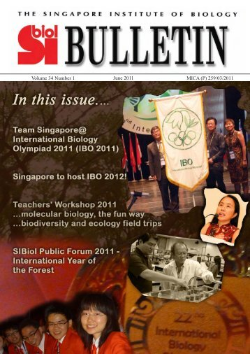 Volume 34 Number 1 - The Singapore Institute of Biology