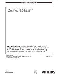 P89C660/P89C662/P89C664/P89C668 80C51 8-bit Flash ...