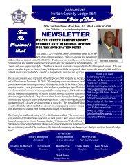 FOP Newsletter – July August 2011 - Fraternal Order of Police