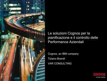 Le soluzioni Cognos per la pianificazione e il ... - Guide Share Italia