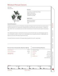 Miniature Pressure Sensors - All Sensors Corporation