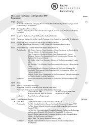 Updated Programme - Rat für Nachhaltige Entwicklung
