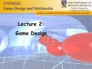 Lecture 2: Game Design - Undergraduate