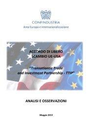 ACCORDO DI LIBERO SCAMBIO UE-USA ... - Confindustria