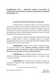 recomendação 03/2011 - Ministério Público do Paraná