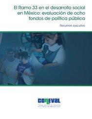 El Ramo 33 en el desarrollo social en México: evaluación ... - Coneval