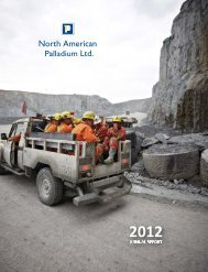 Annual Report (PDF 7.52 MB) - North American Palladium