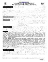 LAND PURCHASE AND SALES AGREEMENT Rhode Island ...