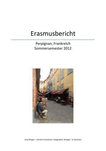 Erfahrungsbericht SS 12 - Erasmus