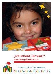 Flyer (PDF) herunterladen - Das kunterbunte Kinderzelt eV