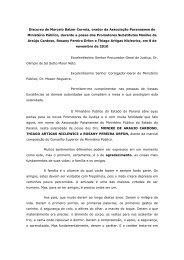 Discurso de Marcelo Balzer Correia, orador da Associação ...