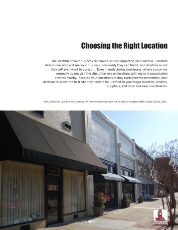 Choosing the Right Location - Greater Rome Chamber of Commerce