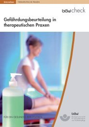 TP-3GB – Gefährdungsbeurteilung in therapeutischen Praxen - BGW