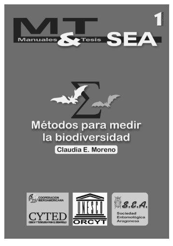 Métodos para medir la biodiversidad - Universidad de Córdoba