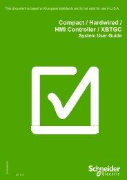 Compact / Hardwired / HMI Controller / XBTGC ... - Schneider Electric