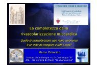 La completezza della rivascolarizzazione miocardica La ... - Anmco