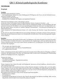 QB 5: Klinisch-pathologische Konferenz