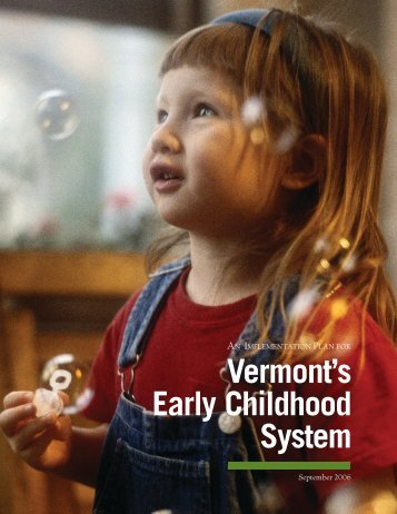 Vermont's Early Childhood System - Maternal and Child Health ...