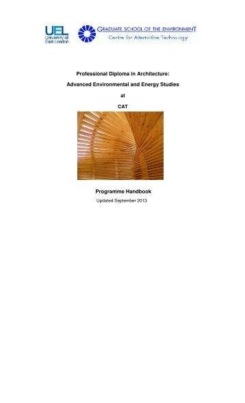 Programme handbook - the Graduate School of the Environment